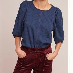 Anthro Current Air Karnes Structured Top